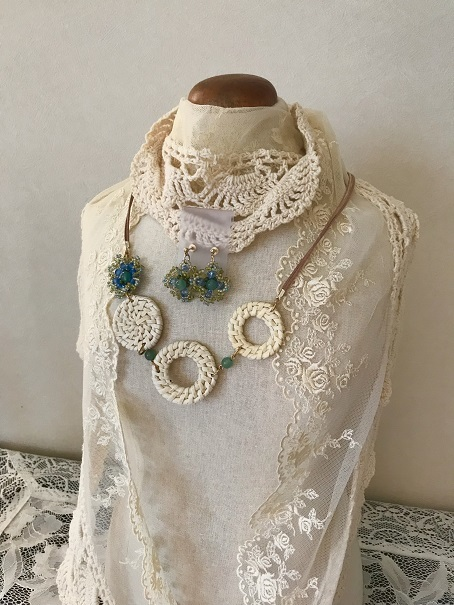 ❀Nemophilla Necklace & Earrings❀_c0368764_09465021.jpg