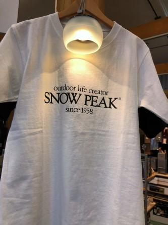 snow peak ロゴTシャツ!!_d0198793_15160160.jpg