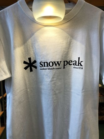 snow peak ロゴTシャツ!!_d0198793_16292777.jpg