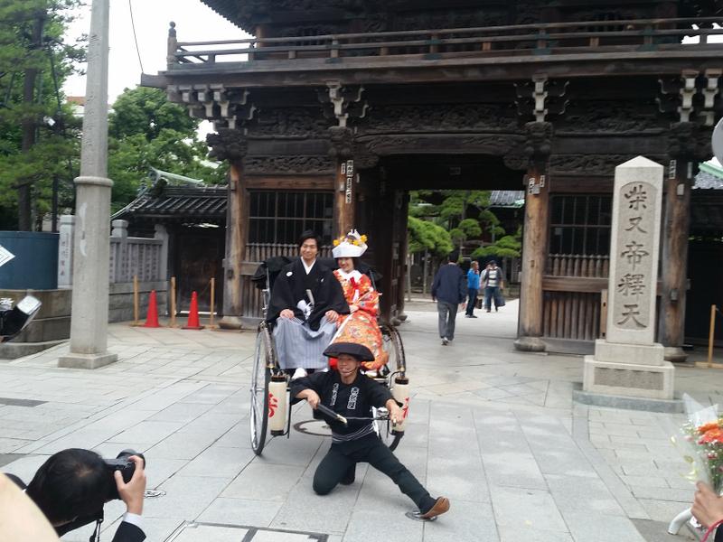 6月16日(土) 参道に人力車で花嫁さん_d0278912_23430494.jpg