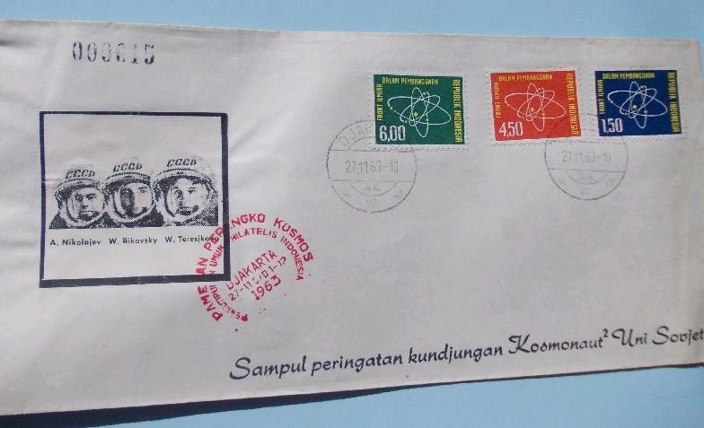 インドネシアの切手・初日カバー: kundjungan Kosmonaut2 Uni Soviet 1963 ソ連宇宙飛行士訪イ その2_a0054926_07293044.jpg