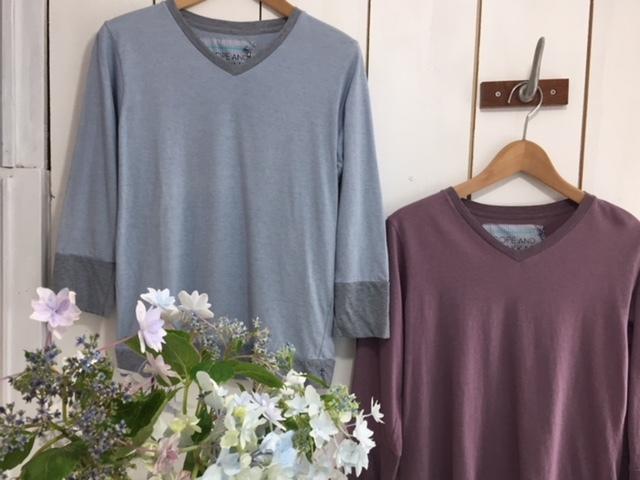 FabGarden 紫陽花染七分袖Tシャツ♪あじさいパープル再入荷しています!_d0108933_12462327.jpg