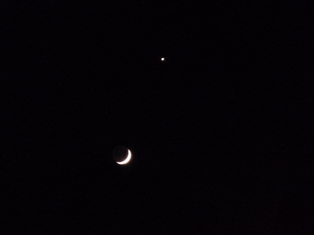 三日月と星_e0230141_08331243.jpg