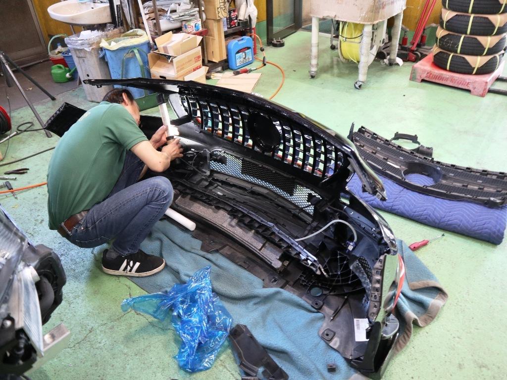 AMG CLA45にパナメリカーナグリルを装着です。_e0188729_16343978.jpg