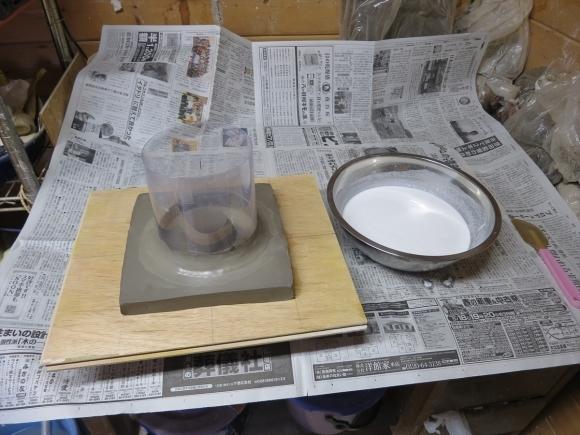 ミニ盆栽用極小八角鉢の石膏型制作_d0277868_19200063.jpg
