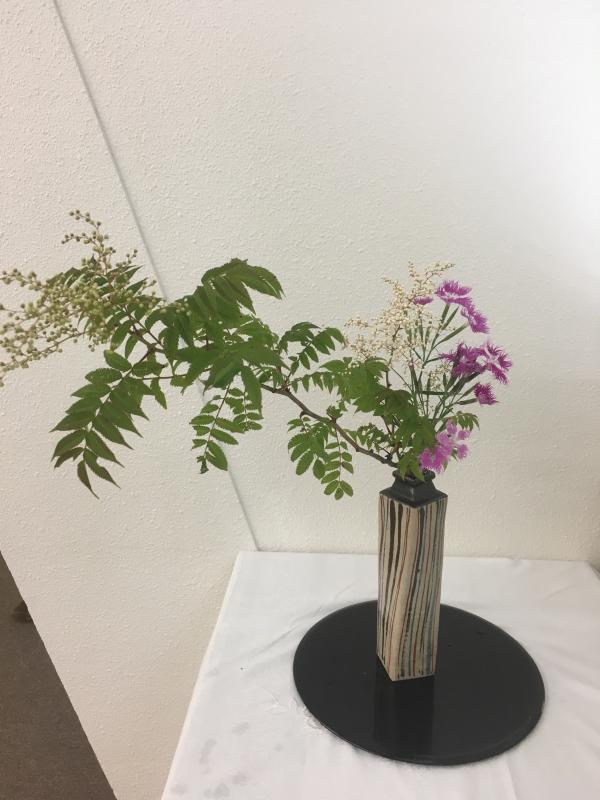 お茶花と日本画、書の発表会_c0195496_14442042.jpg