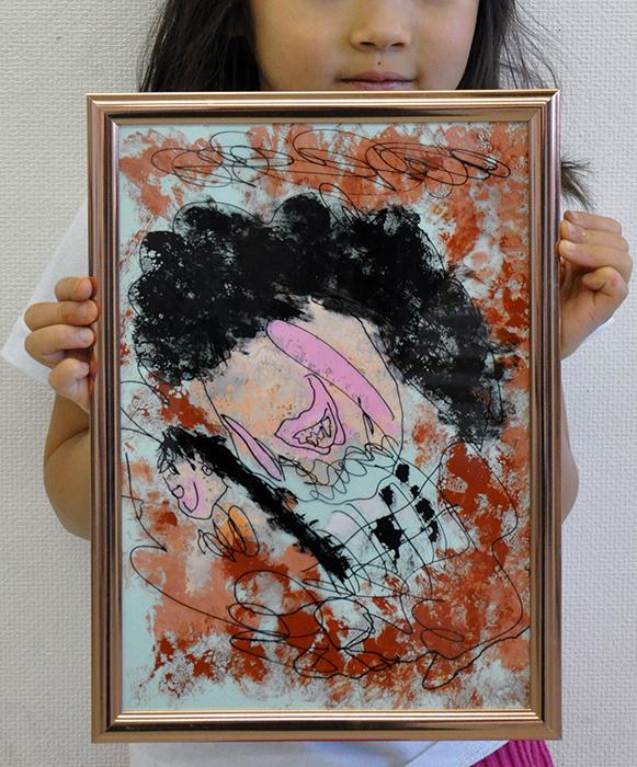 児童画クラス お父さんのガラス絵_b0212226_18534016.jpg