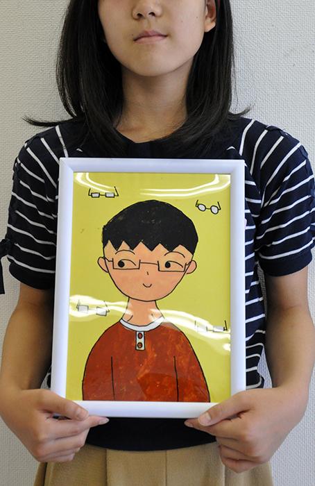 児童画クラス お父さんのガラス絵_b0212226_18562330.jpg