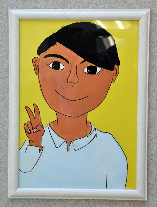児童画クラス お父さんのガラス絵_b0212226_18565181.jpg