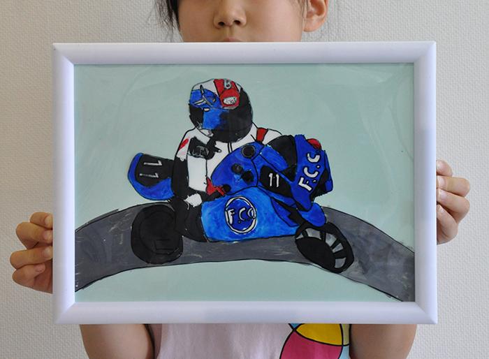 児童画クラス お父さんのガラス絵_b0212226_19045298.jpg