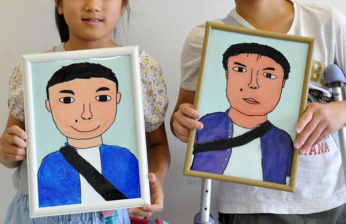 児童画クラス お父さんのガラス絵_b0212226_19223189.jpg