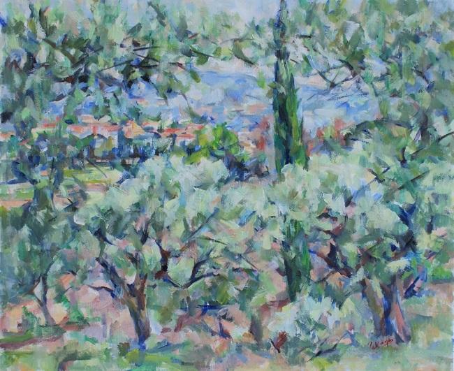 糸杉とオリーブの林_c0236929_18595127.jpg