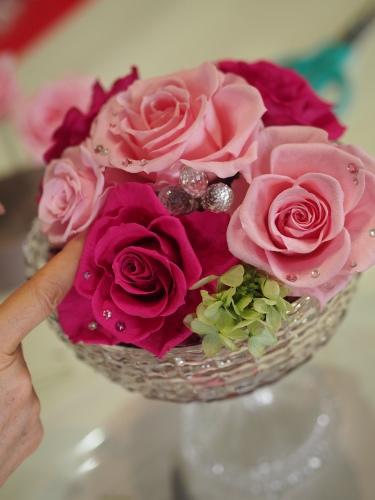 【Pink/Anniversary/Glass vase】_d0144095_16563537.jpg