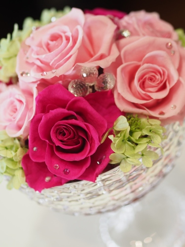 【Pink/Anniversary/Glass vase】_d0144095_16564849.jpg