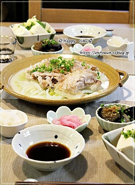 あるもののっけて押し寿司風弁当と今夜は白菜で♪_f0348032_18431116.jpg