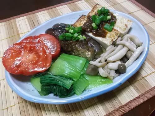 焼き豆腐の柚子味噌かけ&いかのバターしょう油炒め_f0019498_20071612.jpg
