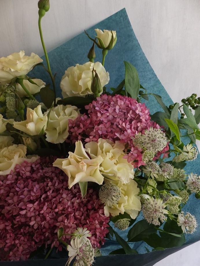 オークリーフ(6月の花束・ピンク色の花を入れて)_f0049672_11440485.jpg
