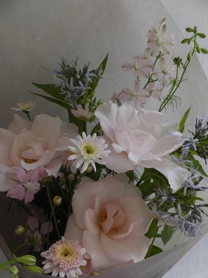 オークリーフ(6月の花束・ピンク色の花を入れて)_f0049672_11443078.jpg