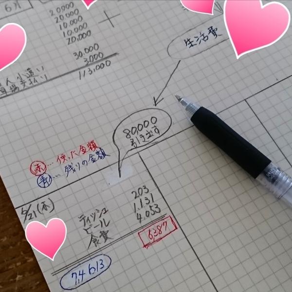 ++家計簿&夏至*++_e0354456_09533188.jpg