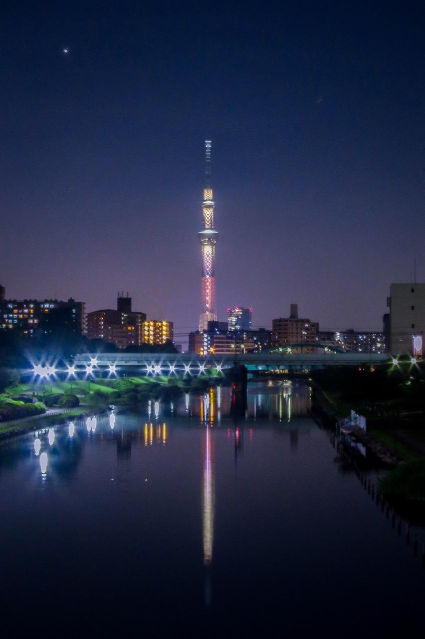 2018.6.22スカイツリー夕景・夜景(平井ふれあい橋付近)_e0321032_15160226.jpg