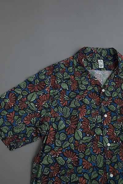KATO  Leaf Print Open Collar Shirt_d0120442_12565113.jpg