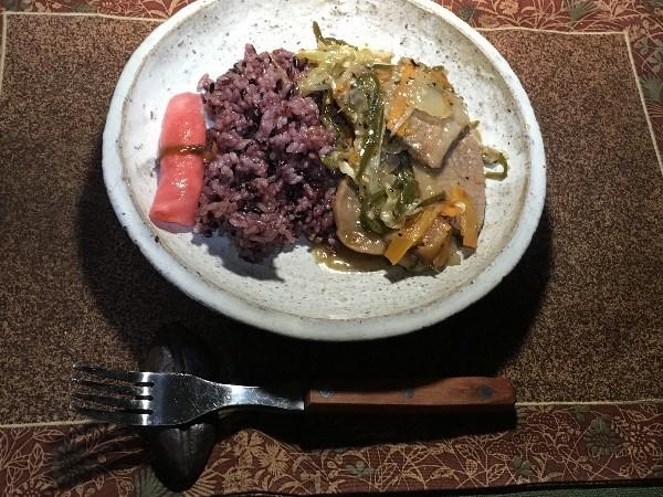 夕飯は本部牛の野菜炒め_e0166355_20560009.jpg