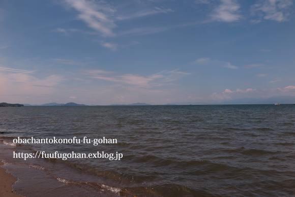 琵琶湖は、ぼちぼち夏色&遅ごはんは、お鍋ど~ん(^_^)v_c0326245_11495184.jpg