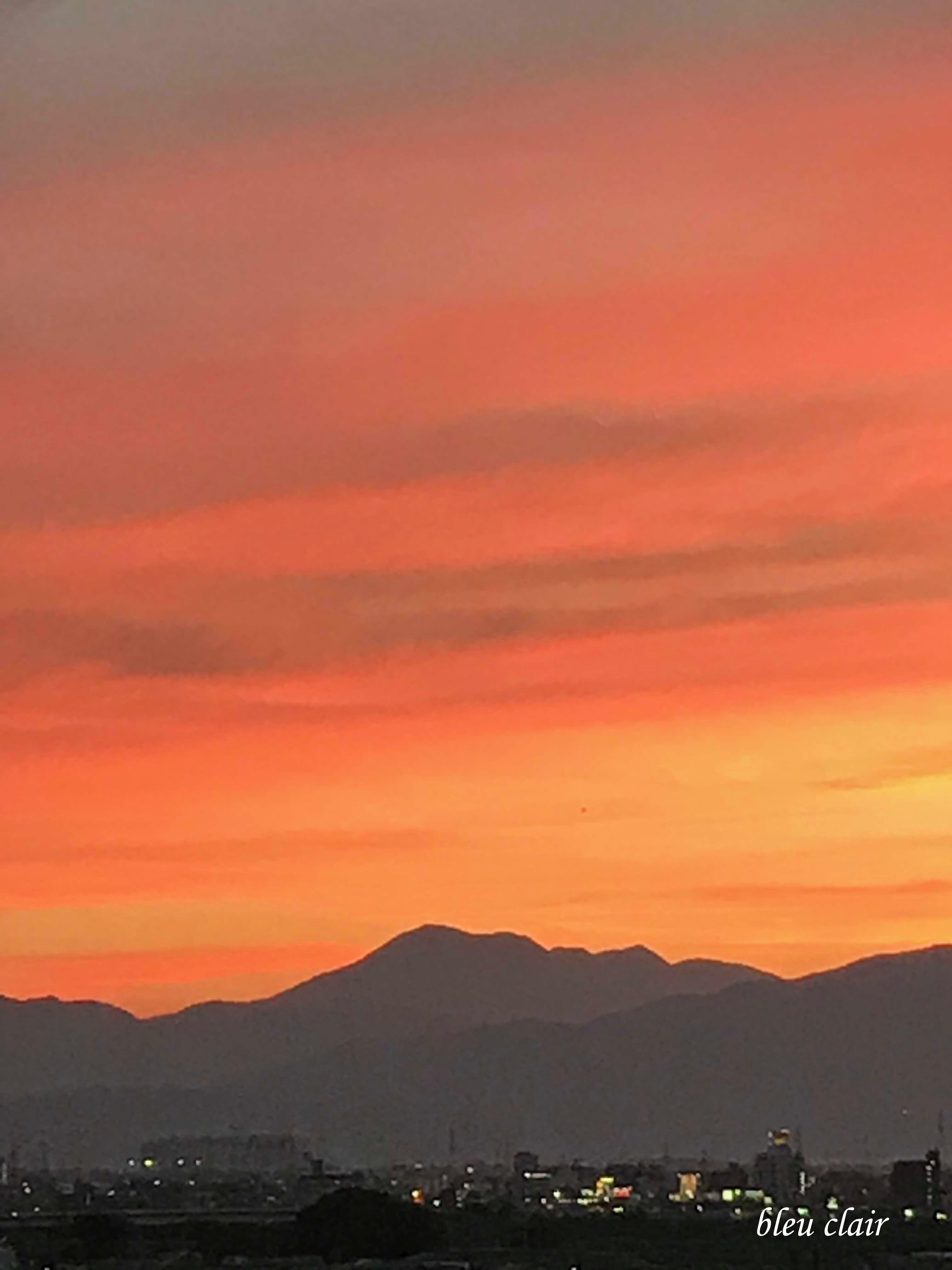 綺麗な夕焼け_b0270372_22324124.jpg