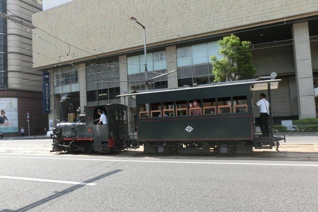 藤田八束の鉄道写真@四国松山での路面電車と松山の街並み、松山城と路面電車のお洒落なコンビ_d0181492_20565456.jpg