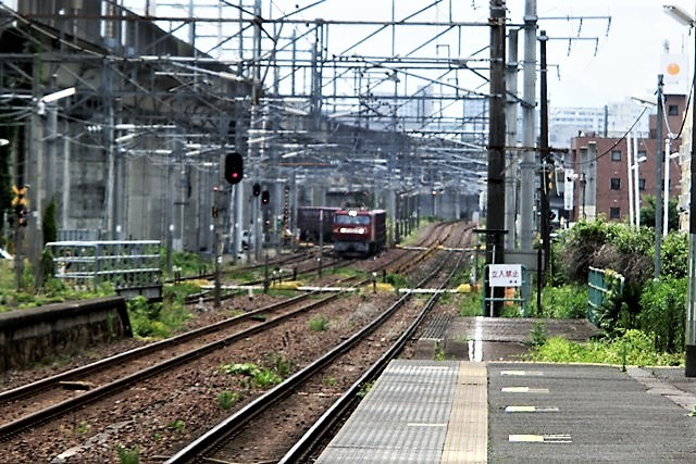 藤田八束の鉄道写真@東北本線仙台駅での新幹線の以外な素顔、石油を運ぶ貨物列車は意外とお洒落_d0181492_08270612.jpg