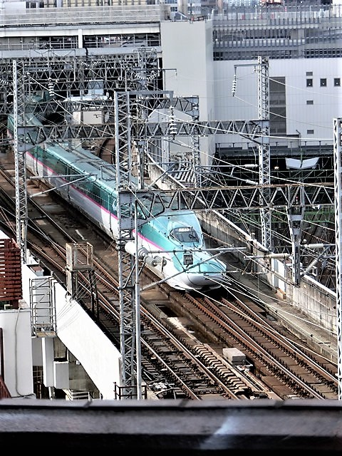 藤田八束の鉄道写真@東北本線仙台駅での新幹線の以外な素顔、石油を運ぶ貨物列車は意外とお洒落_d0181492_08335216.jpg