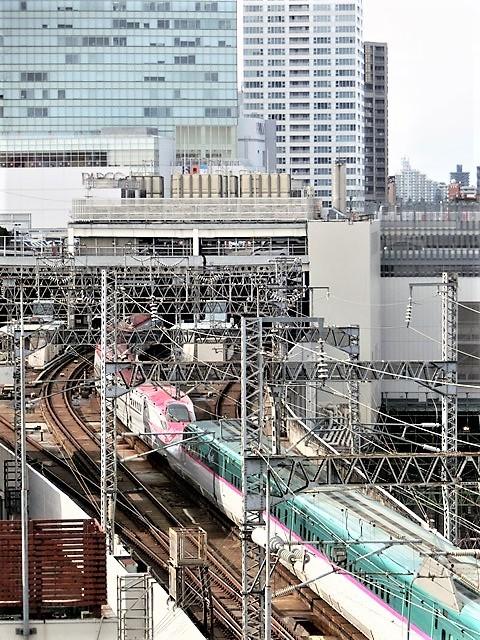 藤田八束の鉄道写真@東北本線仙台駅での新幹線の以外な素顔、石油を運ぶ貨物列車は意外とお洒落_d0181492_08340047.jpg