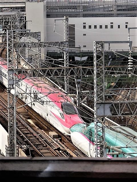 藤田八束の鉄道写真@東北本線仙台駅での新幹線の以外な素顔、石油を運ぶ貨物列車は意外とお洒落_d0181492_08340830.jpg
