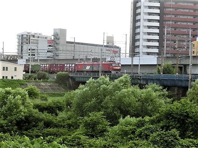 藤田八束の鉄道写真@仙台市に広瀬川有り、広瀬川を渡る貨物列車「金太郎」_d0181492_19320809.jpg