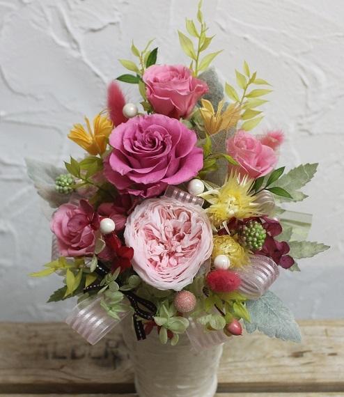 ご結婚お祝い プリザーブドフラワー_d0227610_20485280.jpg