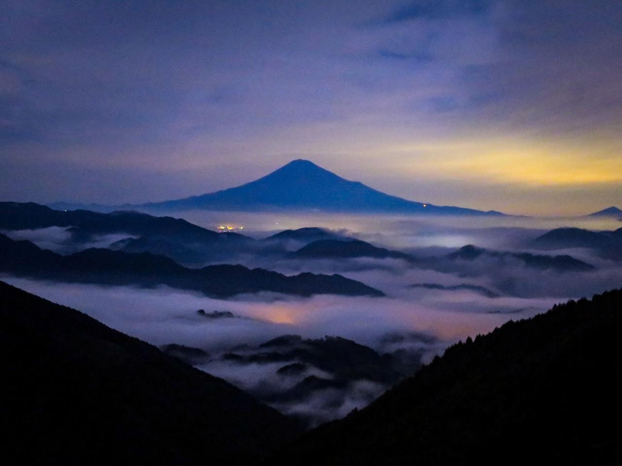 2018.6.24,25夜の富士山と雲海(吉原)_e0321032_15294358.jpg