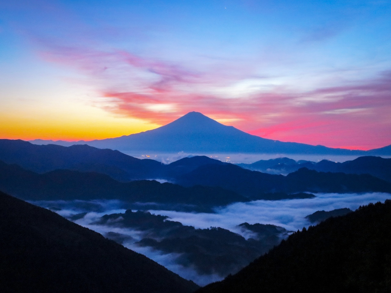 2018.6.25早朝の富士山と雲海(吉原)_e0321032_15322308.jpg