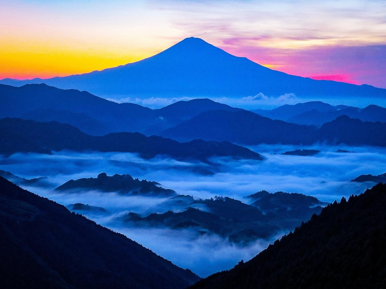 2018.6.25早朝の富士山と雲海(吉原)_e0321032_15331046.jpg