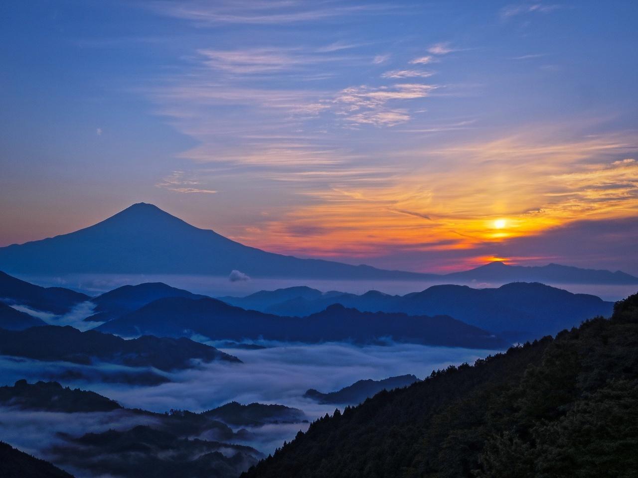 2018.6.25早朝の富士山と雲海(吉原)_e0321032_15333890.jpg