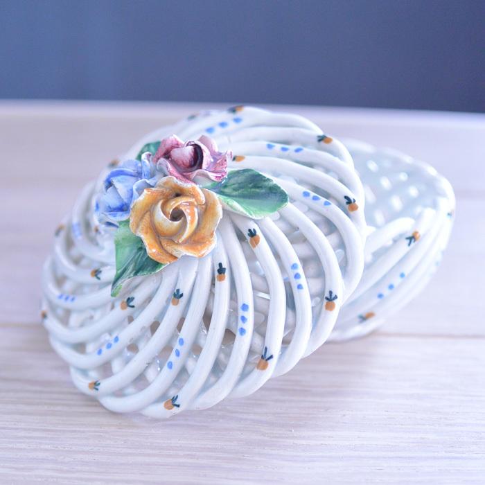 ◆フランスアンティーク*とてもときめいた♡陶器のパニエ・ボンボニエール_f0251032_15071475.jpg