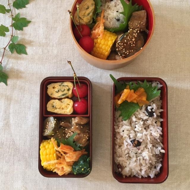lunch box ×2 山形産 さくらんぼを頂いて♪_a0165160_17270124.jpg