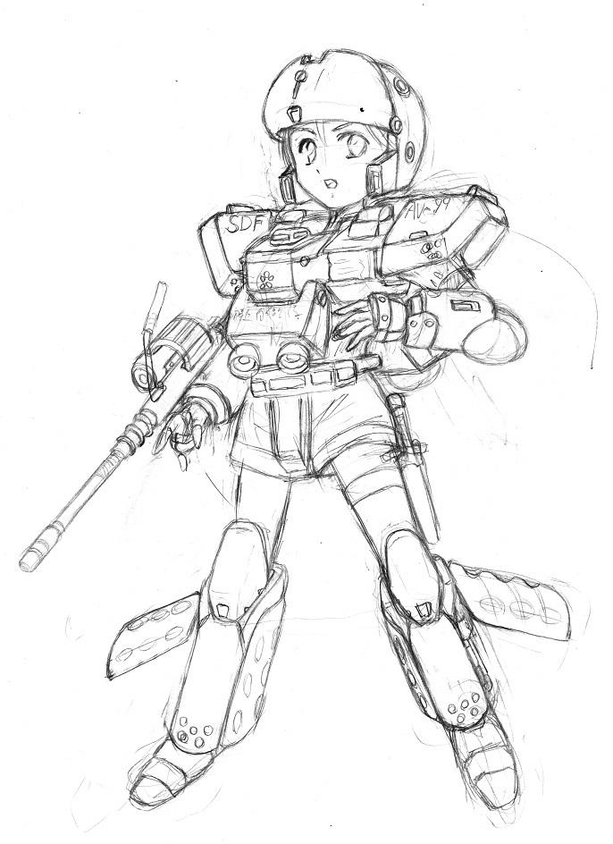 AV 99 Helldiver Girl