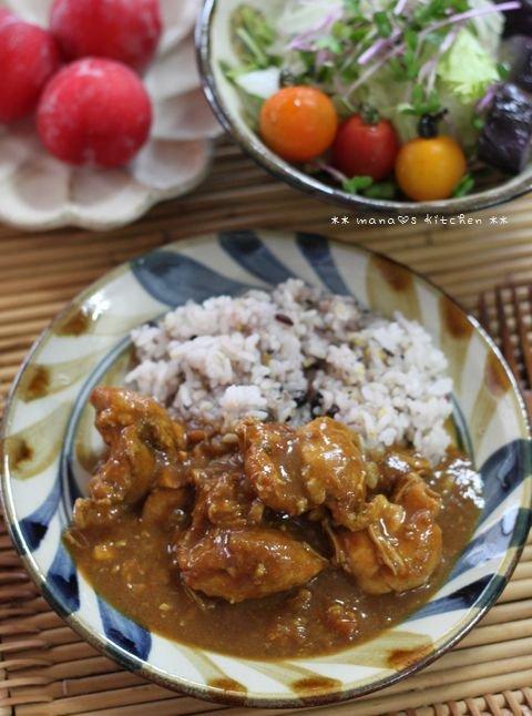 惣菜ボール ✿ チキンカレー(๑¯﹃¯๑)♪_c0139375_13134060.jpg
