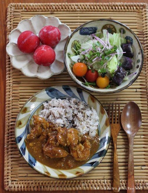 惣菜ボール ✿ チキンカレー(๑¯﹃¯๑)♪_c0139375_13135335.jpg