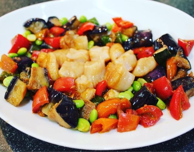 最近凝ってる常備菜「揚げなす」で夏野菜のサラダやら、麻婆茄子やら_a0223786_17313651.jpg