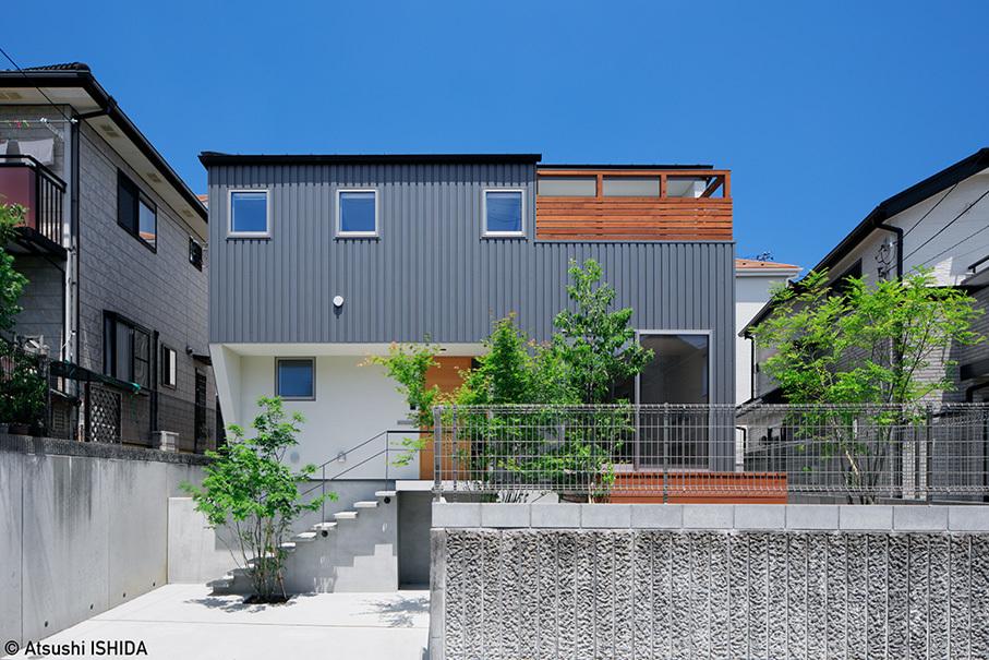 「鶴川の家」竣工写真・外観_b0061387_13442978.jpg