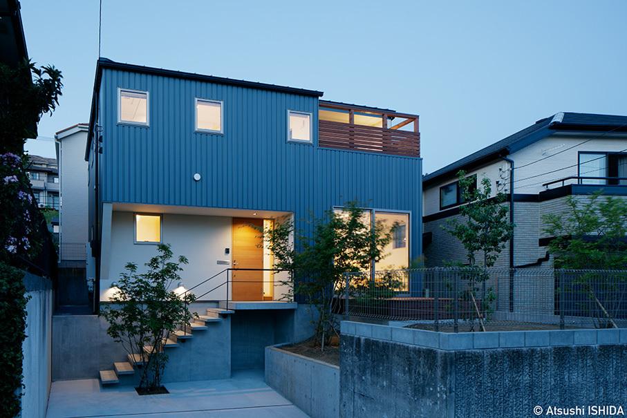 「鶴川の家」竣工写真・外観_b0061387_13444195.jpg