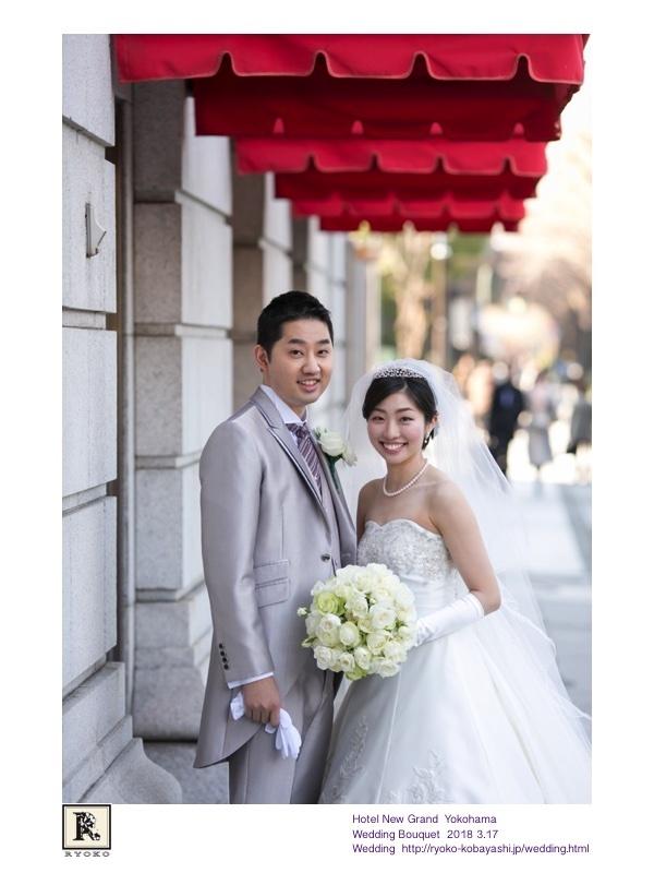 映画のワンシーンのような思わずうっとりしてしまうお写真をいただきました!Hotel New Grand Yokohama  Wedding Bouquet 2018 3.17_c0128489_20560209.jpg