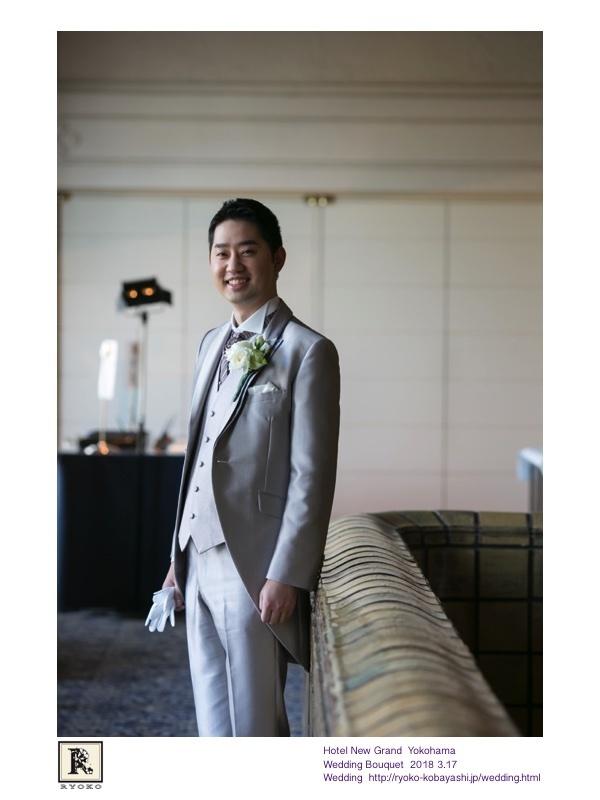 映画のワンシーンのような思わずうっとりしてしまうお写真をいただきました!Hotel New Grand Yokohama  Wedding Bouquet 2018 3.17_c0128489_20561248.jpg