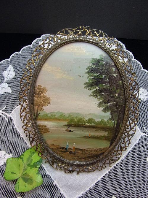 素敵な真鍮フレームのガラス絵_d0127182_16470875.jpg